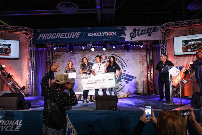 Ivory Comet won 1st place at Progressive International Motorcycle Show.