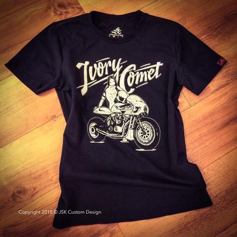 Ivory Comet B&W T-shirt