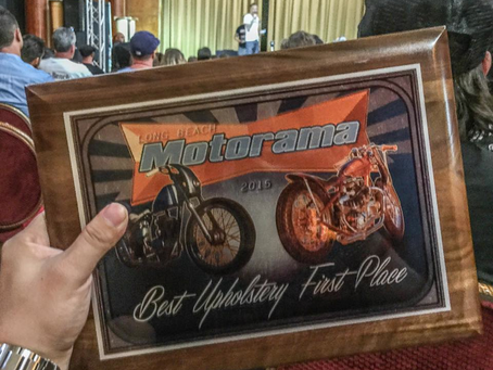 Ivory Comet won Best Upholstery at Ink and Iron in Long Beach