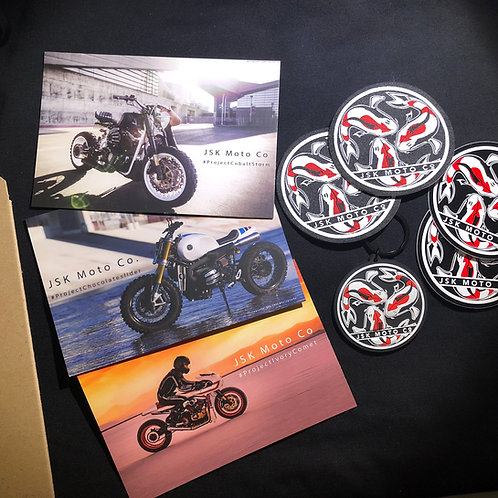 JSK Post Cards + Key Chain + 2 Patches + 2 Stickers Set