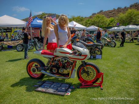 Ivory Comet won 1st Place Pro Builder Class at LA Calendar Motorcycle Show
