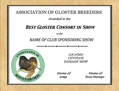 Association of Gloster Breeders Certificate