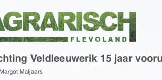 Stichting Veldleeuwerik: 15 jaar vooruit!