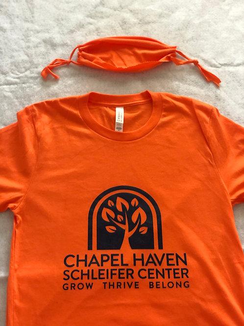 Orange T-Shirt + Face Mask