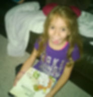 Kid reading Peas Let Her be a Princess