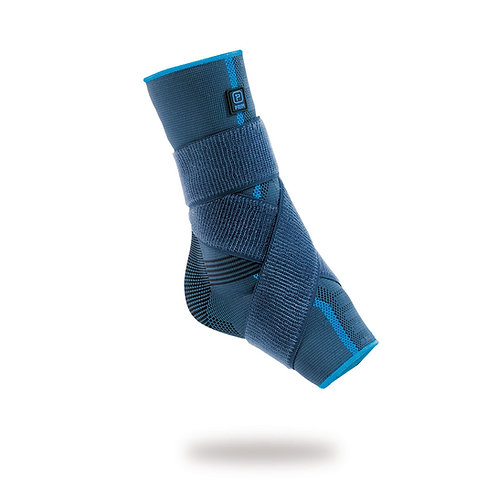 Aqtivo - Elastic Ankle Support (silicone malleolar pads and figure-of-8 strap)