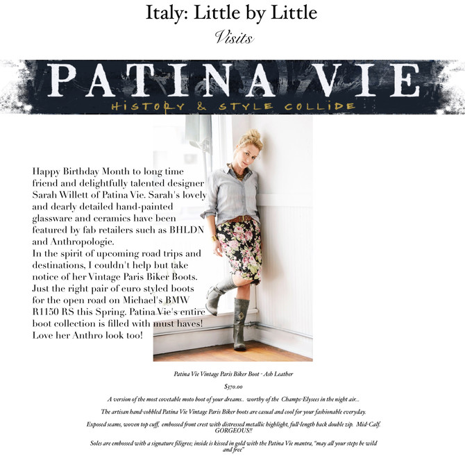 Italy: Little by Little visits Patina Vie