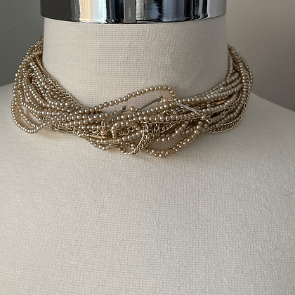 Pearly Twist Choker Necklace