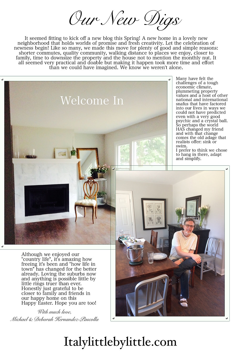 Home Stylist Deborah Hernandez-Pascolla's home beautifully styled and awaiting final furnishings. Mike Pascolla enjoying their new digs in Arlington Heights.