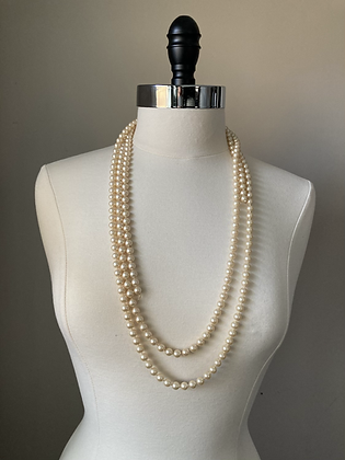 Imperfect Lungo Pearl Necklace
