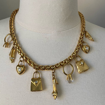 Charms of Gold Necklace