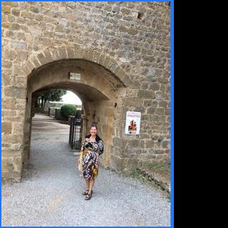 Deb in Tuscany