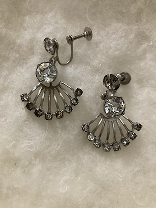 Madonna Rhinestone Fan Earrings