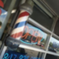 Check out the cool 1950's vibe at Mario's Barbershop.