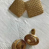 Golden Texture Earrings