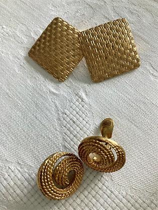 Royally Woven Set of Earrings