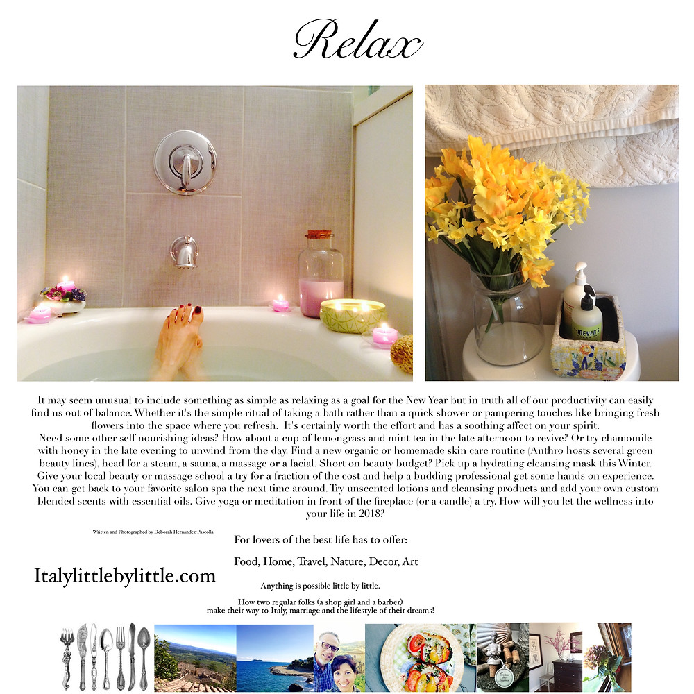 Relax with simple pampering rituals