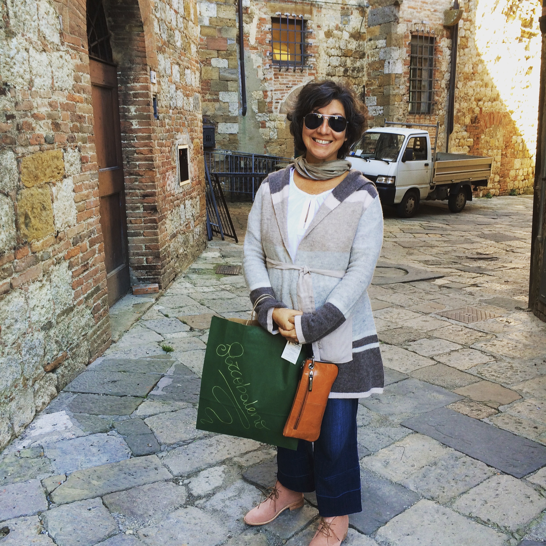 Deb in Montepulciano Italy