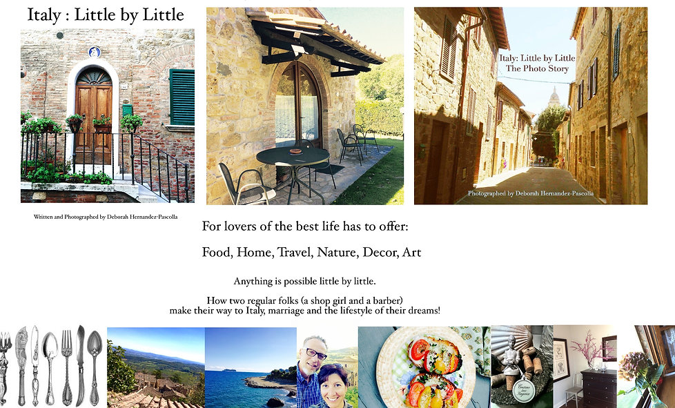 Inspiring imagery as seen in the book Italy: Little by Little