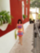 Deborah Hernandez-Pascolla wearing Anthropologie dress in Positano Italy