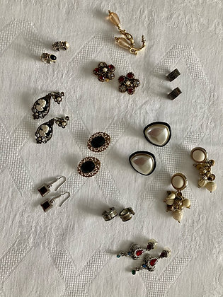 Vintage Earring Collection (set of 11)