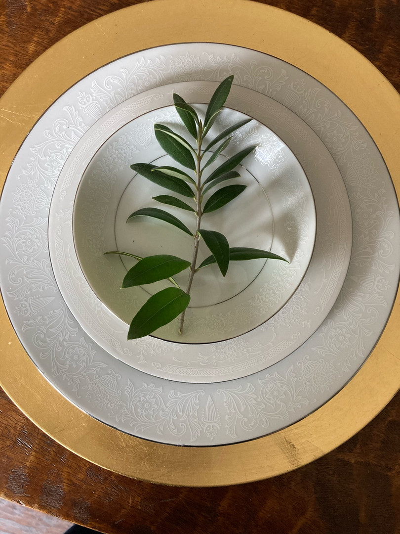 Bianco oro naturale tablesetting