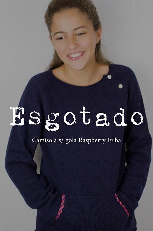Camisola Lã com Caxemira s/ Gola Raspberry