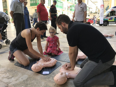 Malta's Restart a Heart Day in Valletta