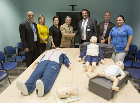 Manikins Donated to Accident & Emergency