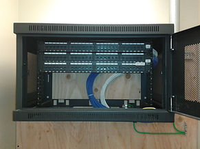 midsize company server cabinet installation