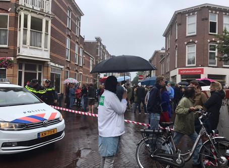 Protest buurtbewoners Haagse Weimarstraat