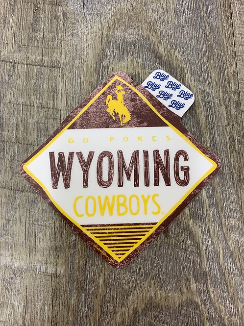 Wyoming Cowboys Decal