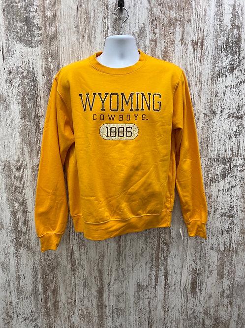 Wyoming Cowboys Gold Crew