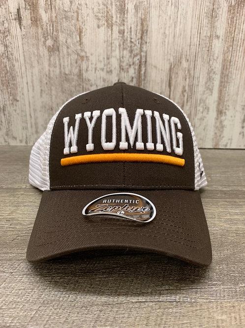 Brown and Gold Wyoming Cap