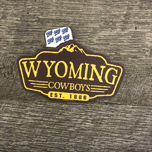 Blue 84 Wyoming Cowboys Decal