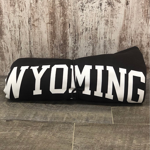 Wyoming Sweatshirt Blanket