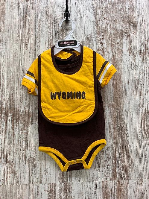 Wyoming Onesie and Bib Set