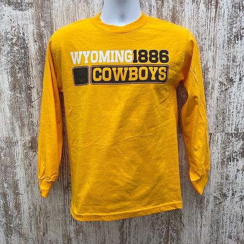 CI Sport Men's Wyoming Cowboys 1886 Long Sleeve Tee