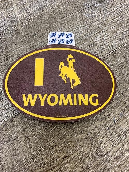Wyoming Bucking Horse Decal