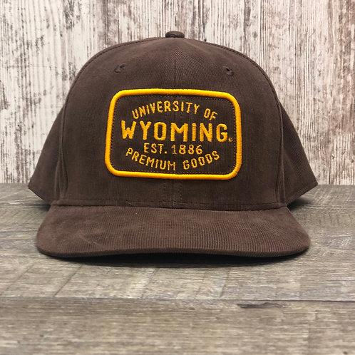 Ouray Men's University of Wyoming Corduroy Hat