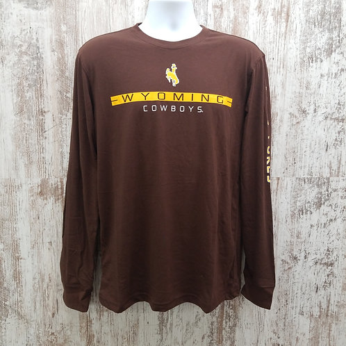 Colosseum Men's Wyoming Cowboys Go Pokes Long Sleeve Tee