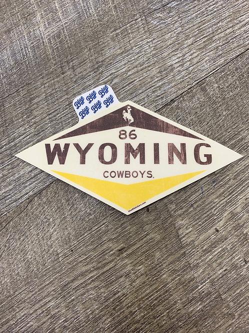 Wyoming Cowboys Decal