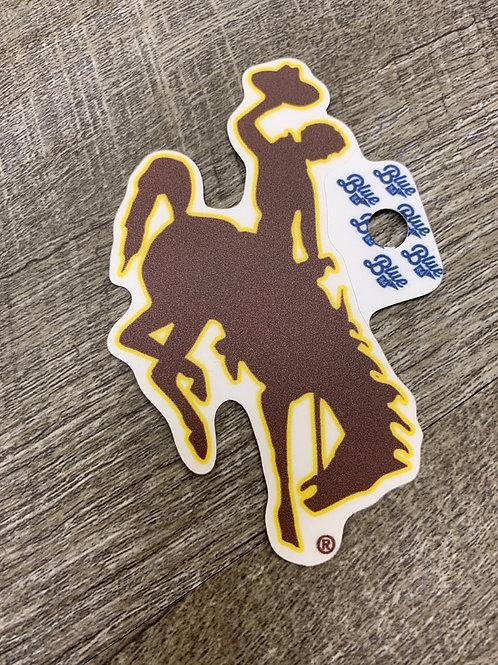 Brown Bucking Horse Decal