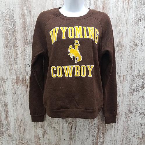 Colosseum Women's Wyoming Cowboys Bucking Horse Sweatshirt