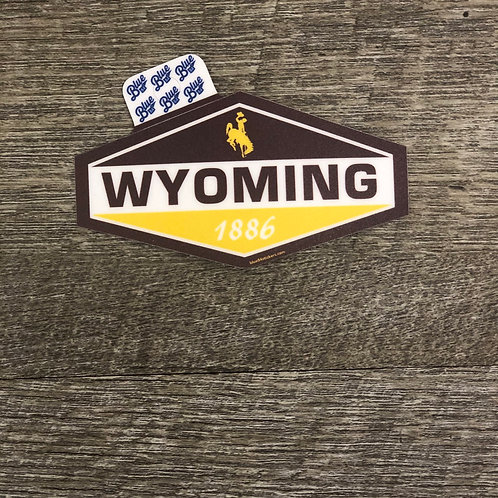 Blue 84 Wyoming 1886 Decal
