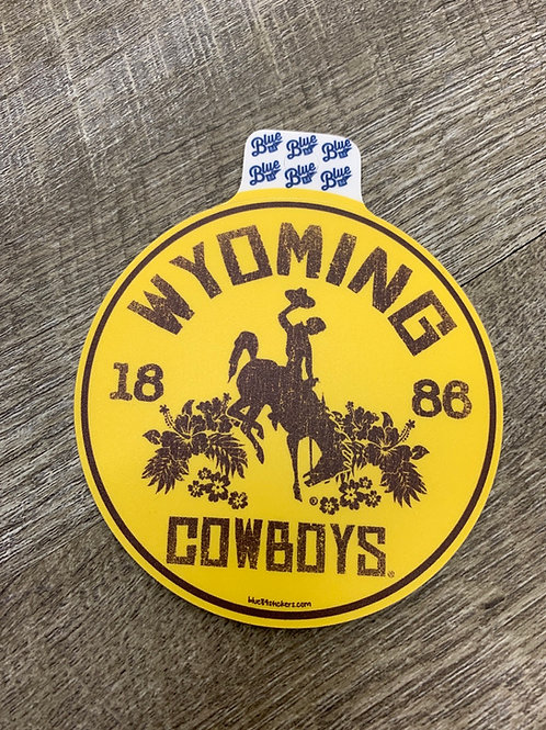 Floral Wyoming Cowboys Decal