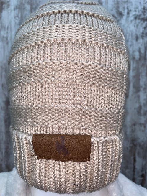Tan Bucking Horse Knit Cap