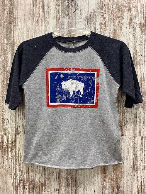 Youth Wyoming Flag Tee