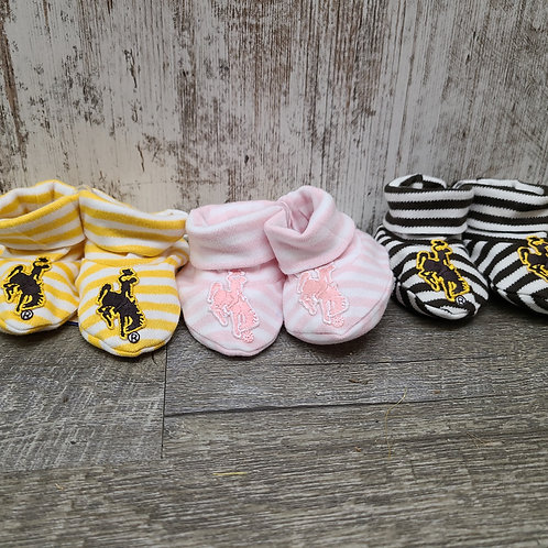 Creative Knitwear Striped Bucking Horse Booties