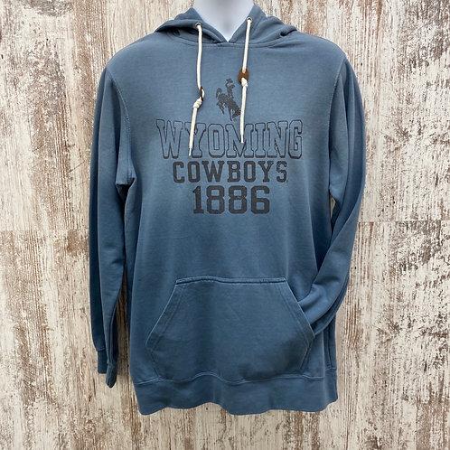 MV Sports Men's Wyoming Cowboys 1886 Hoodie